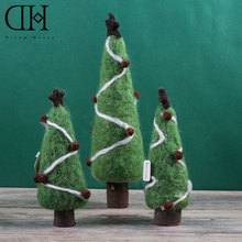 Фотография Original Dream House DH BS163297  xmas wool tree figurine decoration jingle bell christmas gift for kids christmas craft