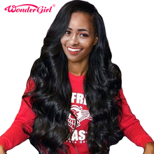 Peruvian Wig Body Wave Lace Front Human Hair Wigs For Black Women Pre plucked Lace Front Wig Wonder girl Non Remy