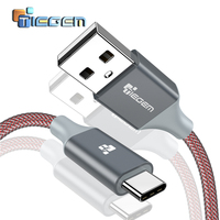 TIEGEM USB 3.1 Type C Cable Nylon Fast Charging USB-C Data Sync Charger Cable for Zuk Z2 NEXUS 5X 6P OnePlus 2 XiaoMi 5 6 Type-C