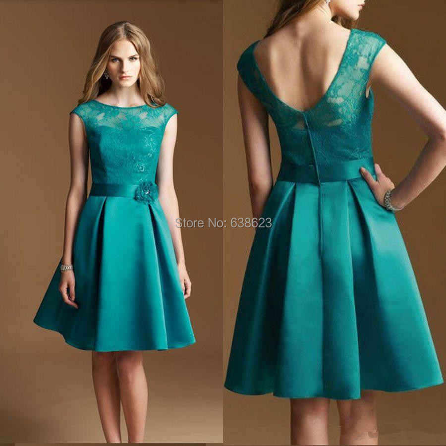Popular Turquoise Cocktail Dress with Sleeves-Buy Cheap Turquoise ...