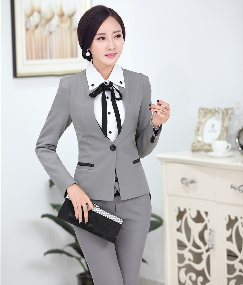 Innovative Lapel Suits For Women Two Button Business Women Suitsin Pant Suits