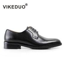 Vikeduo бренд Мода 2017 г. роскошные мужские из коровьей кожи свадебные туфли квартира классические оксфорды ручной работы Мужская обувь для джентльмена мужской