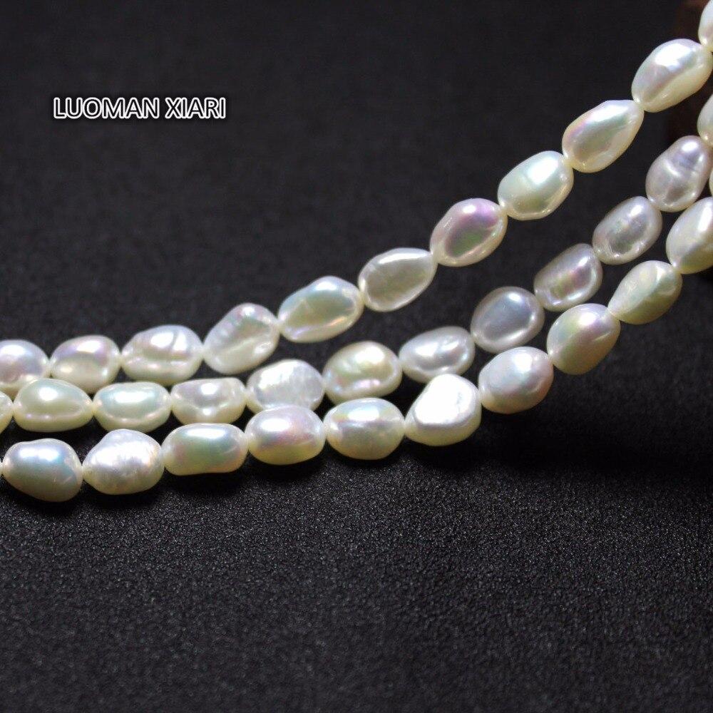 7210feee9205 Una hebra perla Real 12mm perla gris oscuro brillante perla Natural agua  dulce perlas sueltas 35