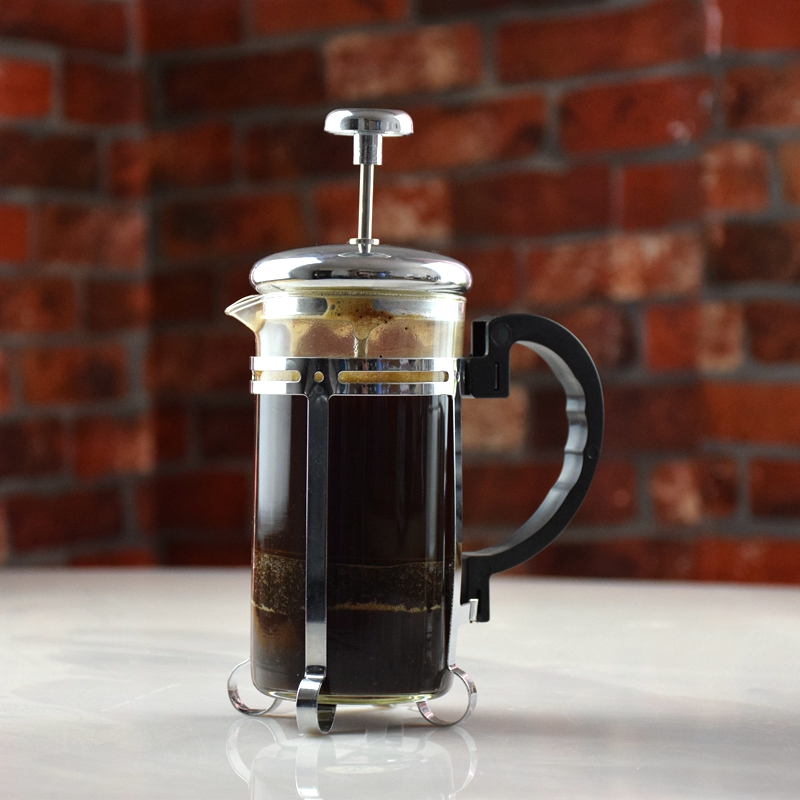 Eco Coffee  Free Shipping 350ml Coffee French Press 350Ml Slivery /Gold Coffee Plunger American Coffee Makers