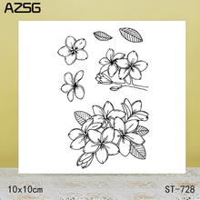 AZSG Flowers And Leaves Dies Clear Stamps For DIY Scrapbooking/Card Making Decorative Silicone Stamp Crafts