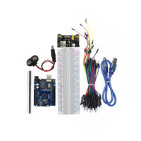 Hot Sell Starter Kit Uno R3 MB 102 830 Points Breadboard 65 Flexible Jumper Wires USB