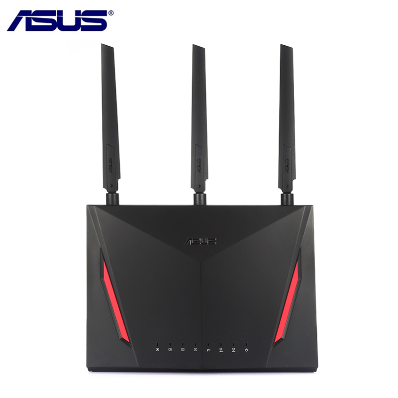 ASUS RT-AC86U 2900Mbps Wireless Wifi Router Dual Core 512MB RAM 256MB ROM 1.8G Wireless AC/G/N Wifi Router With Antennas