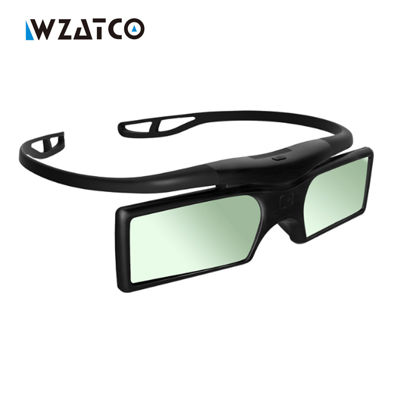 цена на WZATCO Promotion ! 4pcs/lots Professional Universal DLP LINK Shutter Active 3D Glasses For All DLP Ready 3D projector Z4000