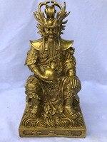 Китайский Латунь Медь скульптура мифологии рисунок дождь Бог Дракон Статуя короля статуи для украшения дома украшения