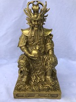 Chinese Brass Copper sculpture mythology figure Rain God Dragon King Statue statues for decoration Home Decorations