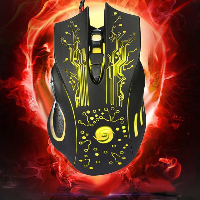 HOT: 3200DPI LED Optical 6D USB Wired Pro Gamer Computer Mouse