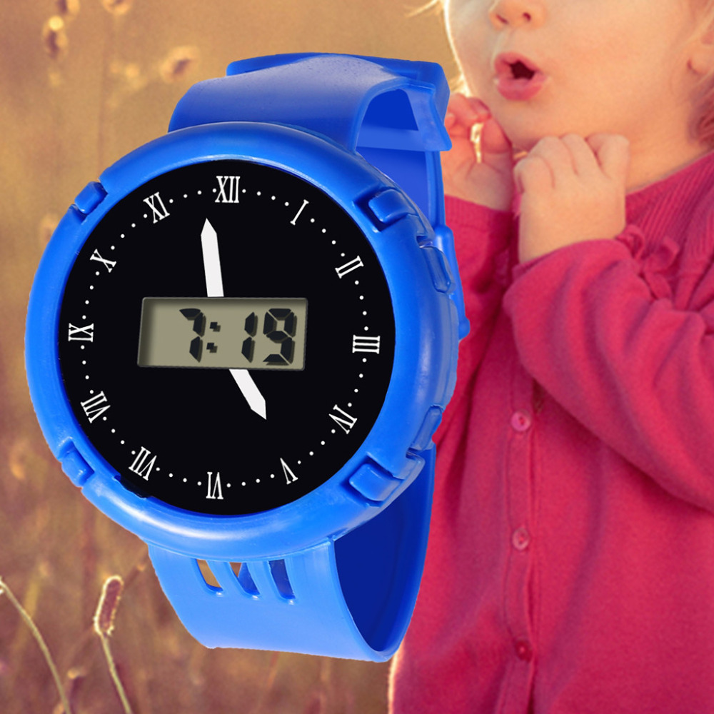 Boys And Grils Electronic Sports Watch Fashion Creative Children Girls Analog Digital Waterproof Watch Clock Gift L201913 High Quality And Inexpensive Watches