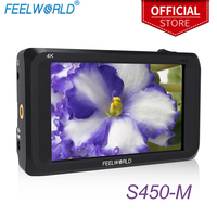Feelworld S450 M 4.5 Inch IPS 4K HDMI 3G SDI On camera Field Monitor 4.5 1280x800 Camera External LCD Monitor with PeakingFocus