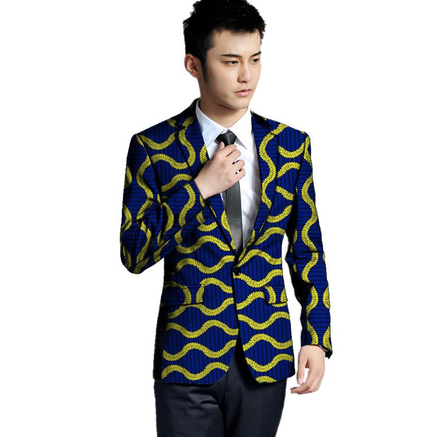 Africa Style Men Blazers High Quality Men Single Breasted Suit Jacket Dashiki Print Men African Clothing Ankara Wedding wear in Blazers from Men 39 s Clothing