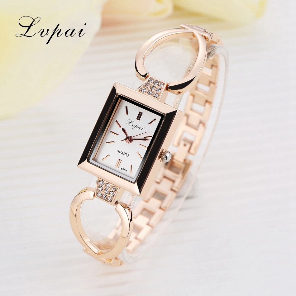 Lvpai Brand Luxury Gold Ladies Gold Watch And Silver Women Bracelet Watches With Fine Alloy Skeleton Strap Women Dress Watch new original sinobi brand women s watch fine steel strap ladies luxury bracelet watches with clover dial