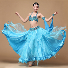 3 colors Belly Dance Costume Performance Oriental Belly Dancing Clothes Bra Belt and Skirt 3 pieces/Set 2018 performance belly dancing egyptian costumes oriental dace bra belt skirt belly dance 3pcs costume set