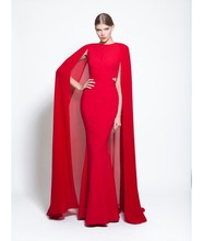 Sexy Elegant Long Evening Dresses 2015 New Arrival Formal Plus Size With Wrap Muslim Gowns Arabic