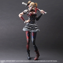 New PLAY ARTS SQUARE ENIX PA Arkham Knight Harley Quinn Haley Quinn 28cm Collectible Action Figure High Quality