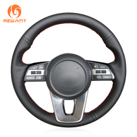 MEWANT Hand stitched Black Artificial Leather Steering Wheel Cover for Kia K5 Optima 2019 Cee'd Ceed 2019 Forte Cerato (AU) 2018
