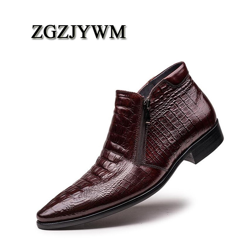 Business Büro Leder Männer Stiefel Zip Echtes rot Wein Black Ankle Oxford Spitz Mode Klassische Formal Atmungsaktive Zgzjywm Schwarz Wine red Z0Pwx7
