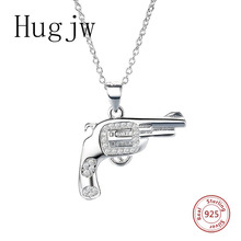 authentic sterling silver 925 unique gun necklace in jewelry pendant necklace with CZ chain silver fashion jewelry for women genuine sterling silver 925 love heart mom hug kid necklace in jewelry pendant necklace with cz chain fashion jewelry for mother