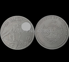 Free shipping Palau 2013 $ 10 mythical creatures werewolf imitation antique coin art round 2oz moon wolf replica plated coins