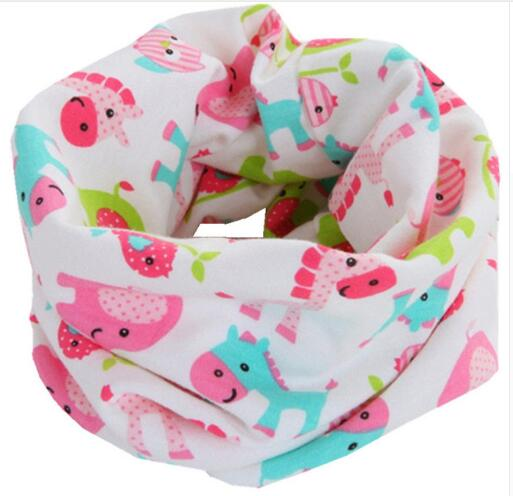 Новинка; сезон осень-зима; шарф из хлопка для девочек; Детский шарф; нагрудный шарф для мальчиков и девочек с круглым кольцом; милый детский шарф с воротником; Bufandas - Цвет: pink elephant