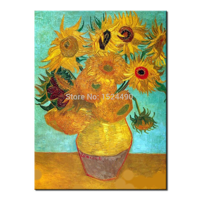 The Vase That 12 Sunflower Of Vincent Van Gogh Handmade Reproduction