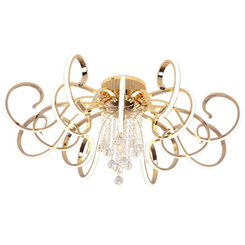 modern personality chandelier home living room crystal lighting simple creative LED Luster acrylic bedroom lamp fixture