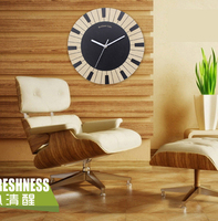 The piano keyboard black and white solid wood wall clock Piano room dedicated fashion decorative household wall clock
