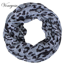 Brand New Fashion Women Ring Loop Scarves Leopard Print Cowl Neck Scarf All-match Lady Soft Infinity Scarf 180*70 CM RO1750317