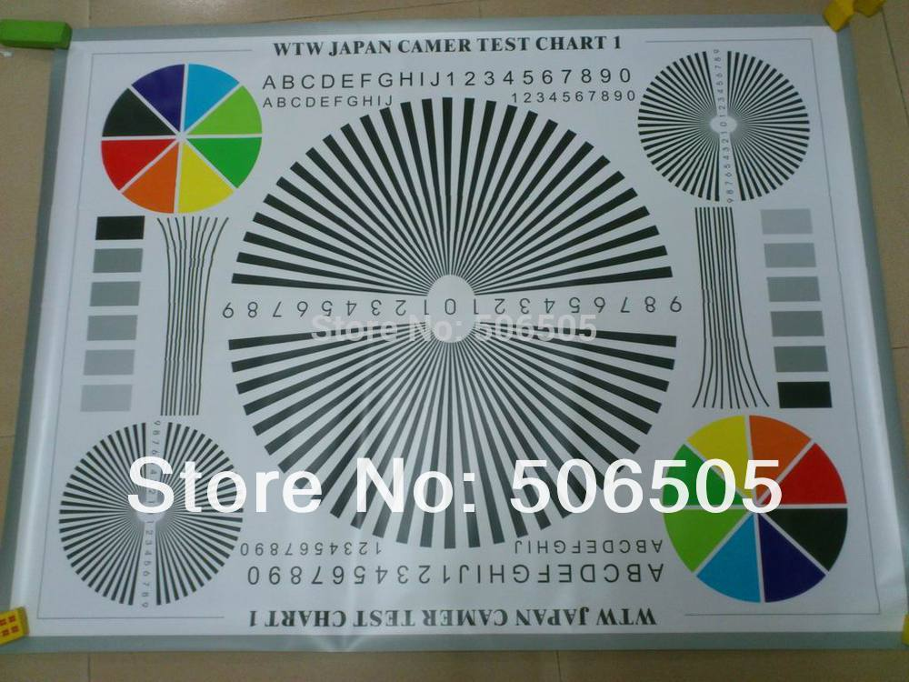 1M*0.75M CCTV Camera Test Chart For Camera Focusing Lens Debugging Test