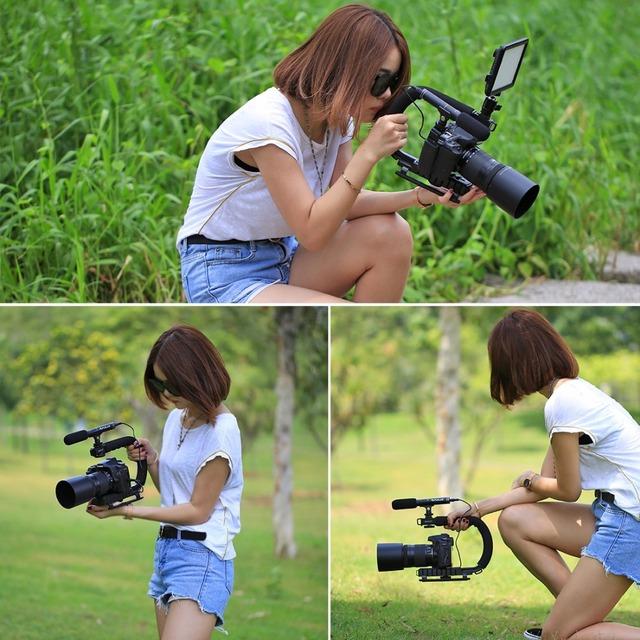 Camera Black Plastic Gimbal with Soft Handle