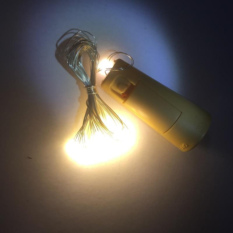 2PCS / Lot 2M 20 LED Cork Bottle Stopper berbentuk LED String Lights - Pencahayaan perayaan - Foto 4