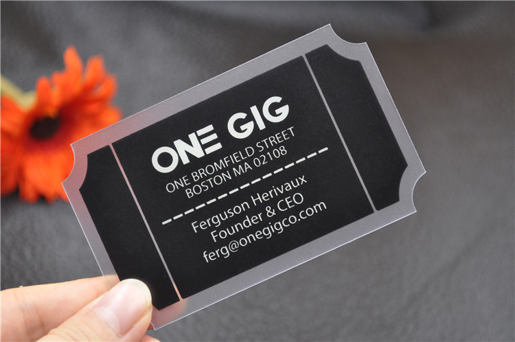 Die Cutting Plastic Business Cards 500pcslot Cheap Pvc Black