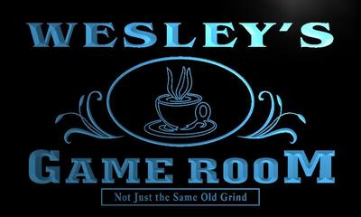 x0175-tm Wesleys Game Room Coffee House Custom Personalized Name Neon Sign Wholesale Dropshipping On/Off Switch 7 Colors DHL