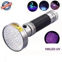 AloneFire Super 100LED UV Light 395 400nm LED UV Flashlight torch light uv lamp by AA battery