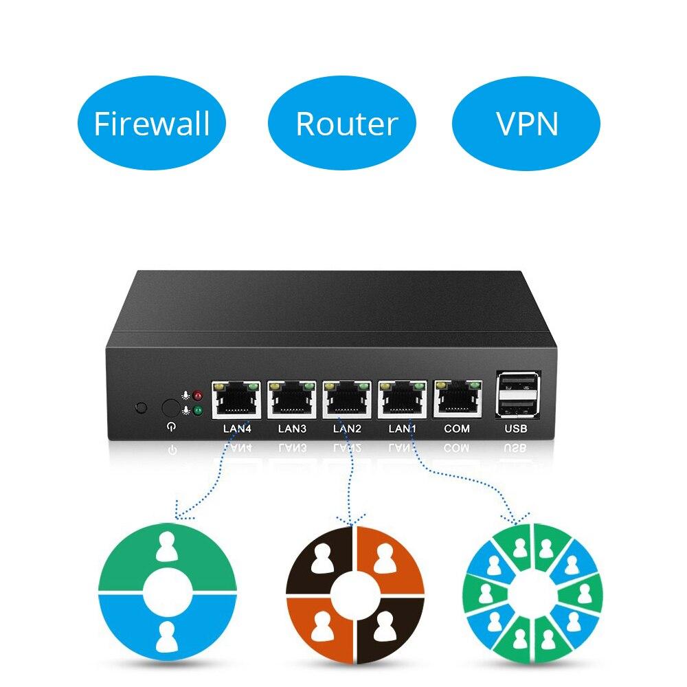 Image 2 - XCY Mini PC Celeron J1900 J1800 Intel i211AT NIC 4*Gigabit LAN RJ45 Consel 2*USB VGA Soft Router Firewall run Pfsense Sophos-in Mini PC from Computer & Office