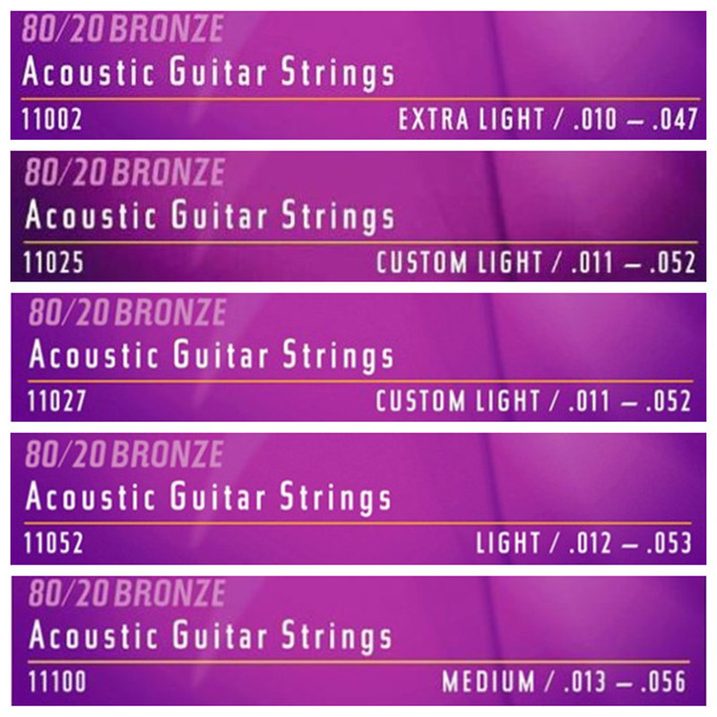 Nanoweb Guitar Strings 11027 11002 11052 16002 16027 16052 For Acoustic Guitar 12052 12002 12077 12102 For Electric Guitar