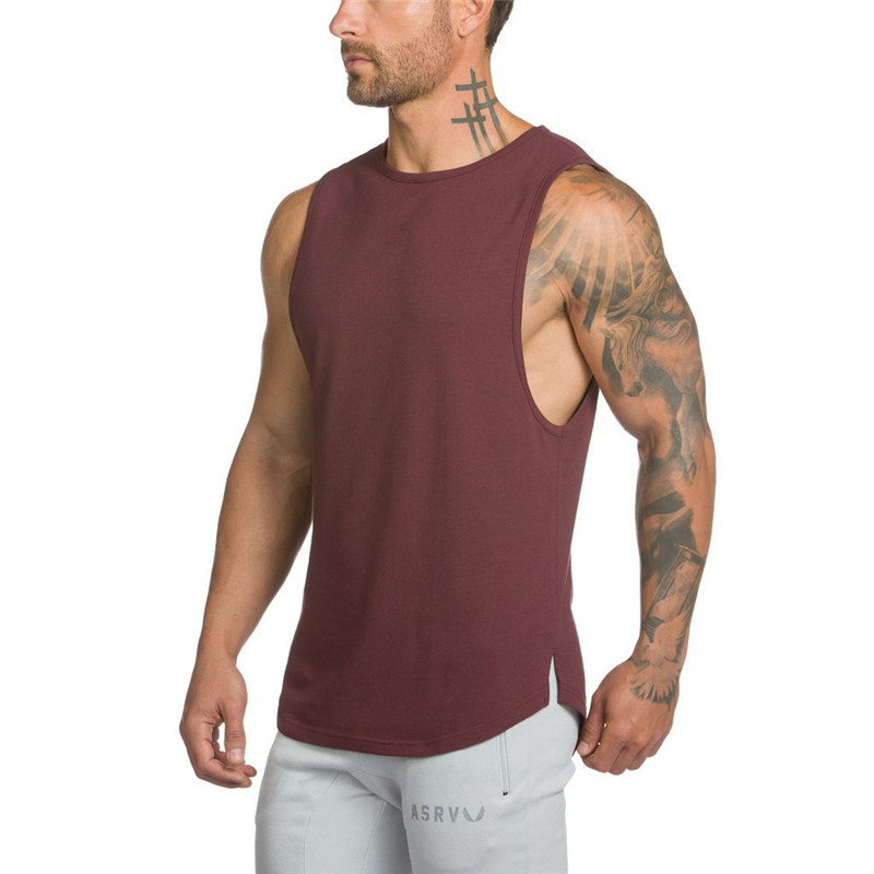 2019 New Summer Hip hop Extend   Tank     Tops   Men's Vest Fashion Sleeveless Cotton Casual The High Quality Men Waistcoat