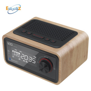 EStgoSZ Retro Wooden Radio Bluetooth Spe