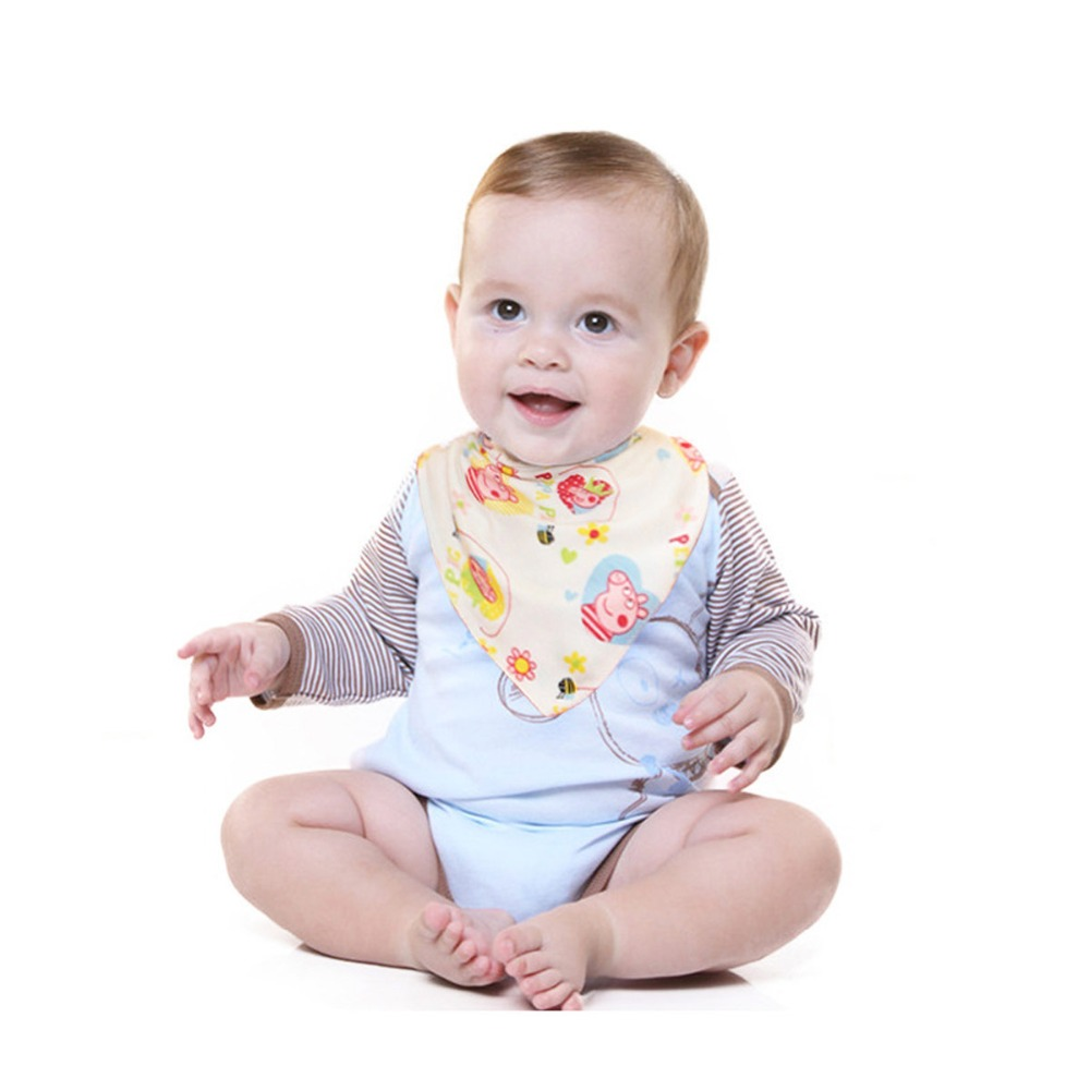 Bibs & Burp Cloths Toddler Infant Kid Baby Bibs Cartoon Triangle Baby Bibs Muslin Cotton Newborn Burp Cloth Baby Accessories