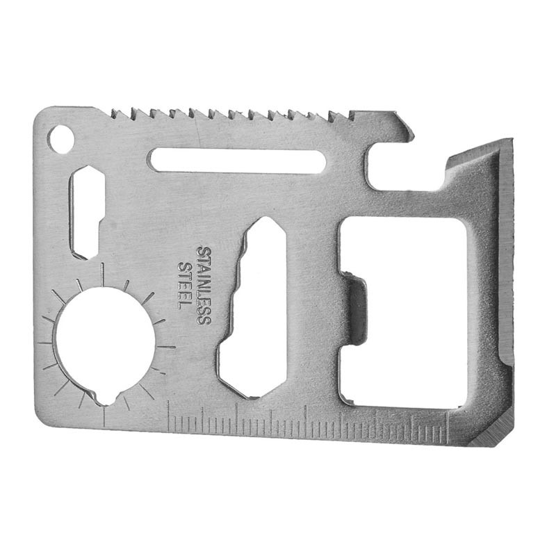 Multi-function Tool Card Opener Hex Portable Screwdriver Wrench Ruler Keychain