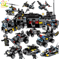 695PCS 8in1 SWAT Police Truck Building Blocks Compatible legoed City Helicopter Soldiers Bricks Educational Toys for Children