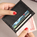 100% genuine leather card holder women men cowhide card case ultra thin multi color credit card holder 6 card slots porte carte