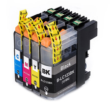 4PK LC123 BK/C/M/Y Compatible Ink Cartridge With Chip For  MFC-J4410DW/MFC-J4510DW/MFC-J4610DW/MFC-J4710DW/MFC-J2510 hot selling compatible brother color toner powder hl3040n 3070cw dcp 9010cn mfc 9120cn 9320cw c m bk y 4 kg lot