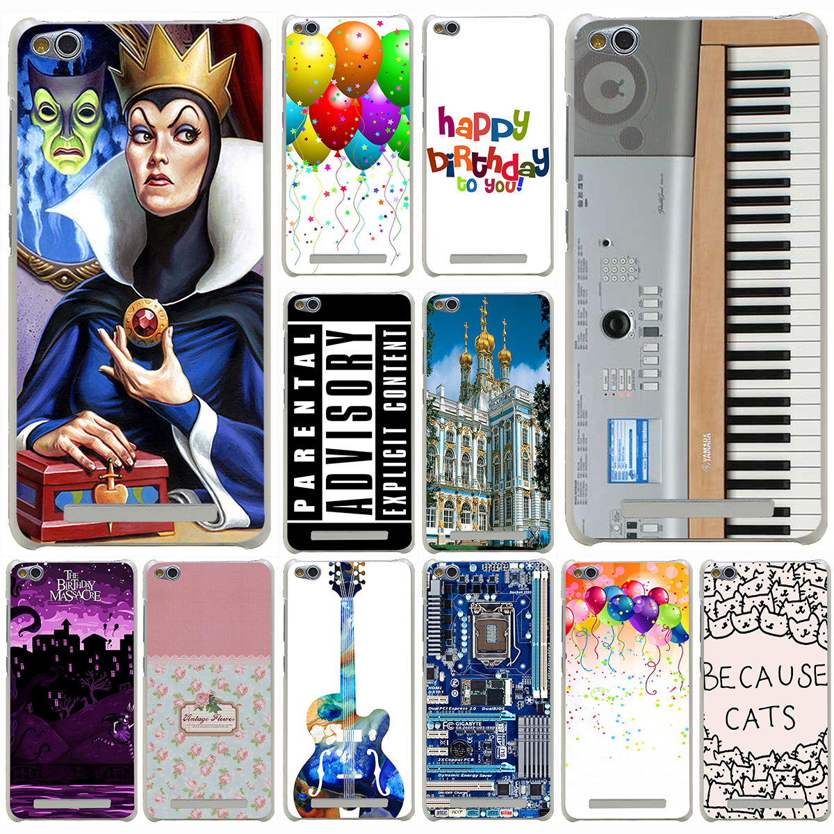 Keyboard Digital Piano Vintage floral love is the flower Hard Case for Redmi 2 2A 3s Pro Note 2 3 Pro & Meizu M2 Mini M2 M3 Note