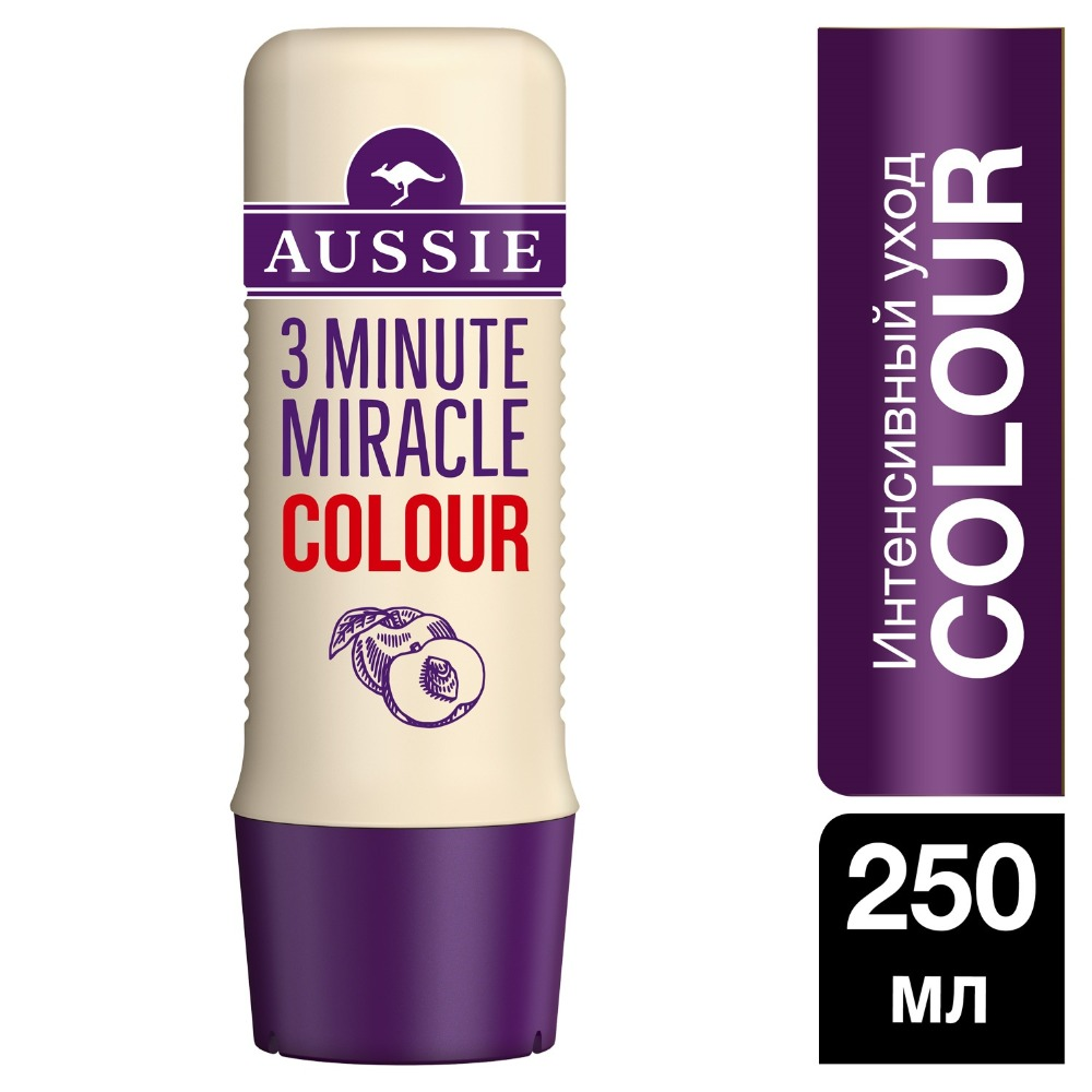 AUSSIE Intensive Care 3 Minute Miracle Color for colored hair 250ml british aussie miracle natural plant conditioner 250ml moisturizing aussie miracle moist conditioner for dry