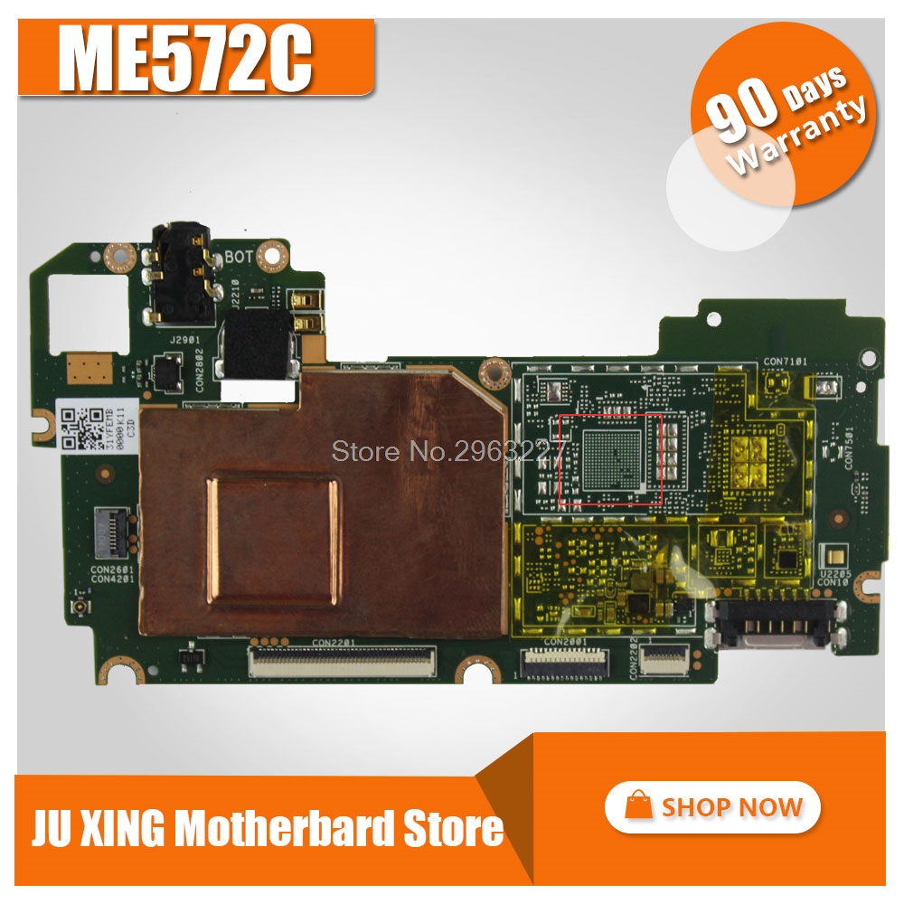 For Asus ME572C tablet motherboard MeMO Pad 7 ME572CL ME572C Mainboard P/N:60NK0070-MB1100 free shipping case cover for asus memo pad 7 me572 me572c me572cl 7 0 inches tpu silicone soft back shell full wrap cases transparent ynmiwei