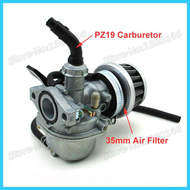 Pz19 19mm Carburetor Air Filter For 50cc 70cc 90cc 110cc